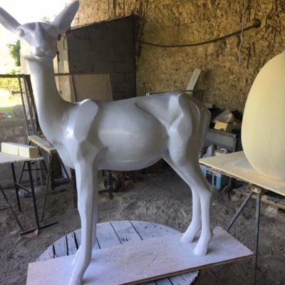 """Agrandissement sculpture résine """"L'impala"""""""